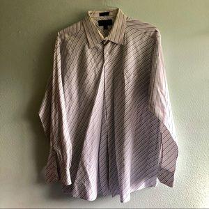 Beautiful white, pink, blue dress shirt! XXL